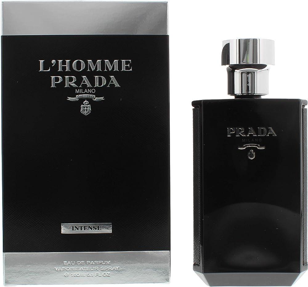 Prada l`homme intense,eau de parfum per uomo,150 ml 10007096