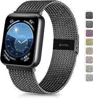 Vancle コンパチブル Apple Watch バンド 38mm 40mm 42mm 44mm ミラネーゼループ アップルウォッチバンド コンパチブル Apple Watch Series 5/4/3/2/1に対応 ステンレス留め金 (42...