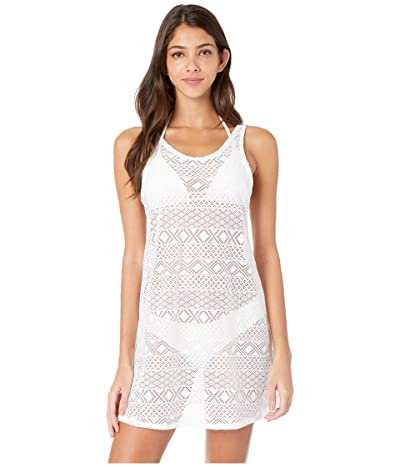 Roxy Garden Summers Crochet Dress Cover-Up (Bright White) Women