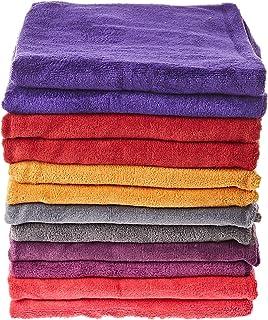 Microfiber Hand Towels Set - 12 Pieces, Multi Color