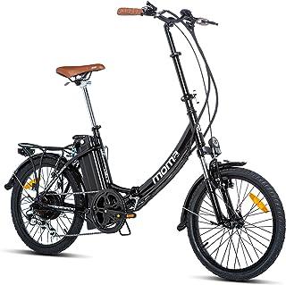 comprar comparacion Moma Bikes E- Bike 20.2 Bicicleta Plegable electrica, Adultos Unisex, Negro, Unic Size