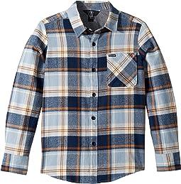 Caden Plaid Long Sleeve Flannel Shirt (Big Kids)