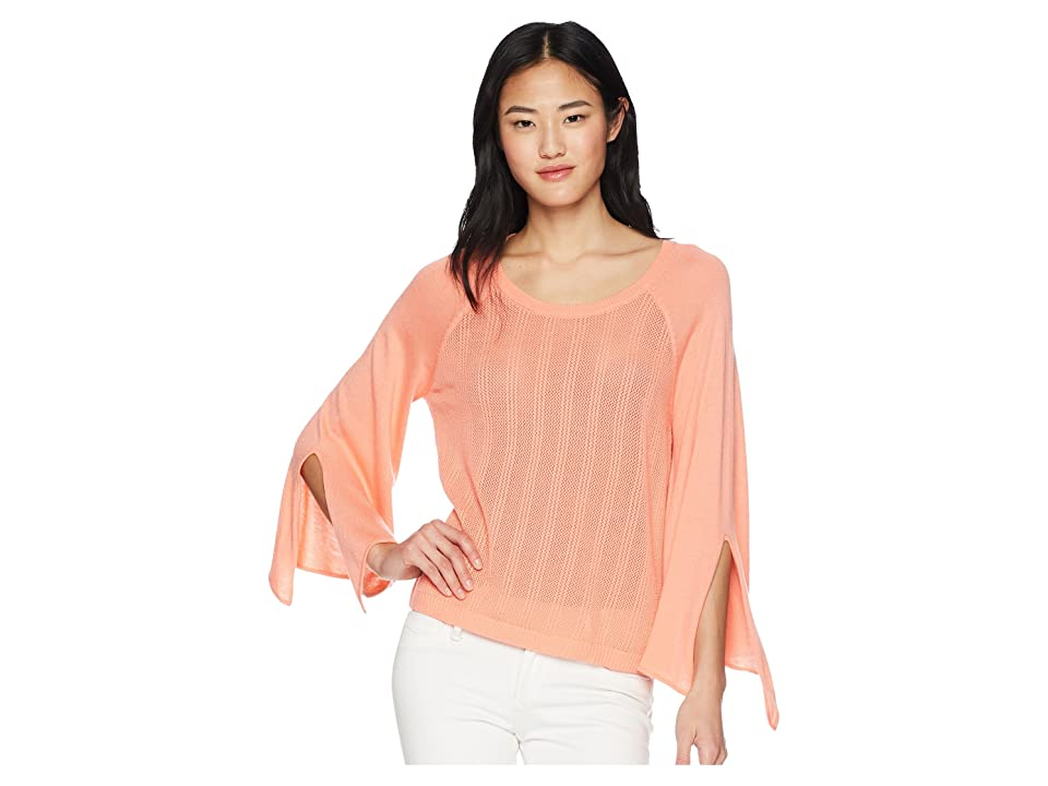 Splendid Sleeve Tie Pullover Sweater (Electric Pink) Women