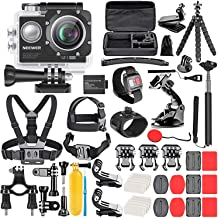 Neewer G1 Ultra HD 4K Action Camera Kit Includes 12MP, 98 ft Underwater Waterproof Camera 170 Degree Wide Angle WiFi Sport...