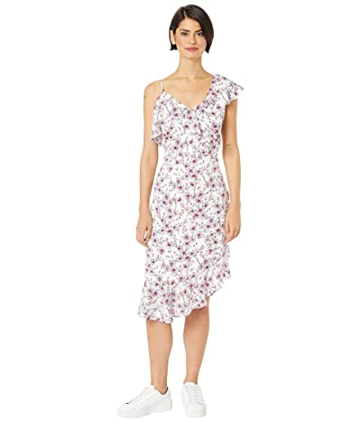 Cupcakes and Cashmere Delphia Printed Ruffle Dress (Ivory) Women