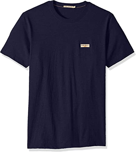 Nudie Jeans Co Daniel Logo t Shirt Midnight