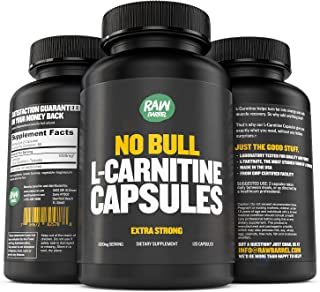 Raw Barrel Pure L-Carnitine L-Tartrate Capsules - Natural Fat Burner, Extra Strength Weight Loss Supplement for Men and Women – Boost Energy and Metabolism, Support Heart Health - 500mg, 120 Pills