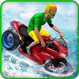 acqua Surfer Bicicletta ciclista 3d