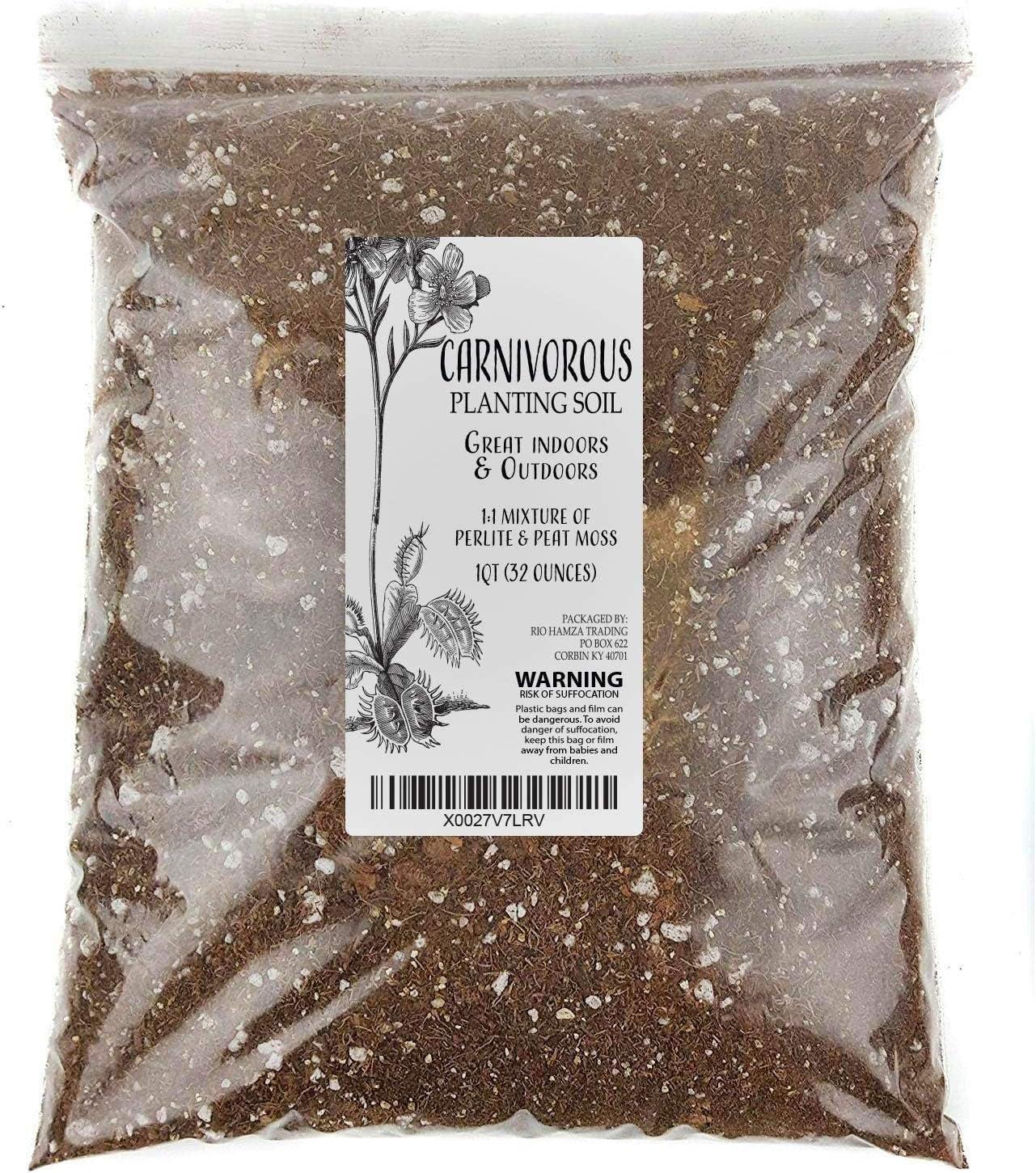 Carnivorous online shopping Plant Soil Very popular! Mix 1 Quart Plants Size Re-Pot Small 1-2