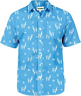 Men's Bright Hawaiian Shirt for Spring Break and Summer - Funny Aloha Shirt for Guys