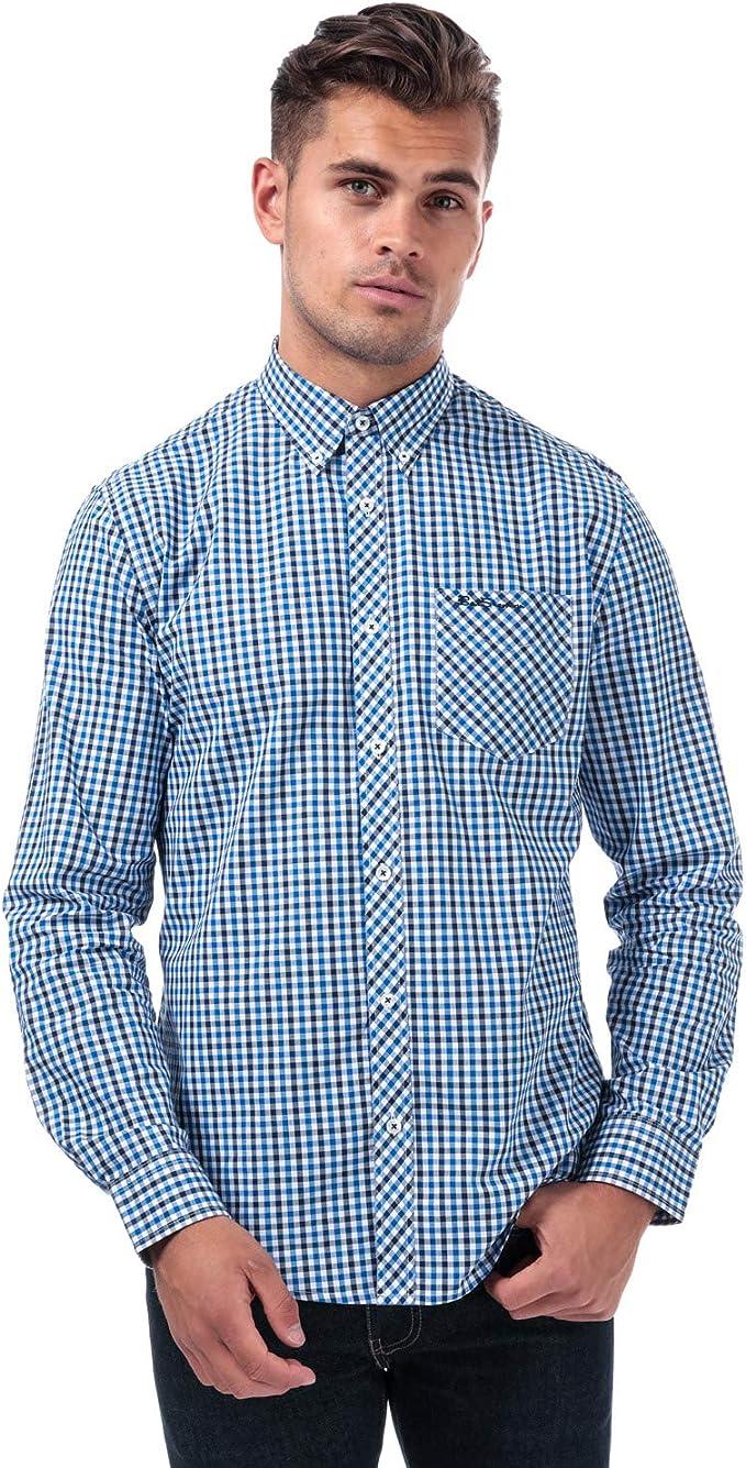Mens Ben Sherman LS House Check Shirt in Blue  Amazon.de Fashion