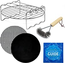 Air Fryer Rack Accessories Set Compatible with Ninja, GoWise Power AirFryer Cozyna Chefman Farberware Secura Emerald Della Harbor Tidylife and More Round Air Deep Fryers by Infraovens | (Small)