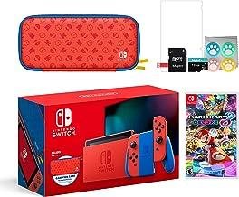 Nintendo 2021 Switch Mario Rojo & Blue Edición Limitada con Mario Iconography funda de transporte y protector de pantalla ...