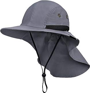 قبعة الصيد مع غطاء الرقبة، قبعة واقية من الشمس للمشي لمسافات طويلة للرجال والنساء قبعة سفاري