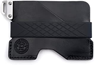 Dango C01 Civilian EDC Wallet - Made in USA - Italian Veg-Tanned Leather, CNC 6061 Anodized Aluminum, Silicone Band