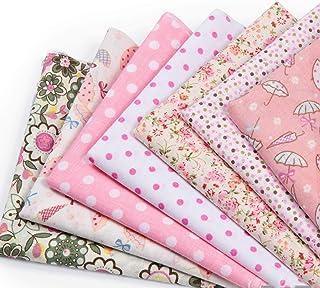 Czemo Patchwork Tissu Lot de 7 pièces 50cm x 50cm Mixtes Textile Tissu Carrés en Coton Imprimé Textiles pour DIY Patchwork...