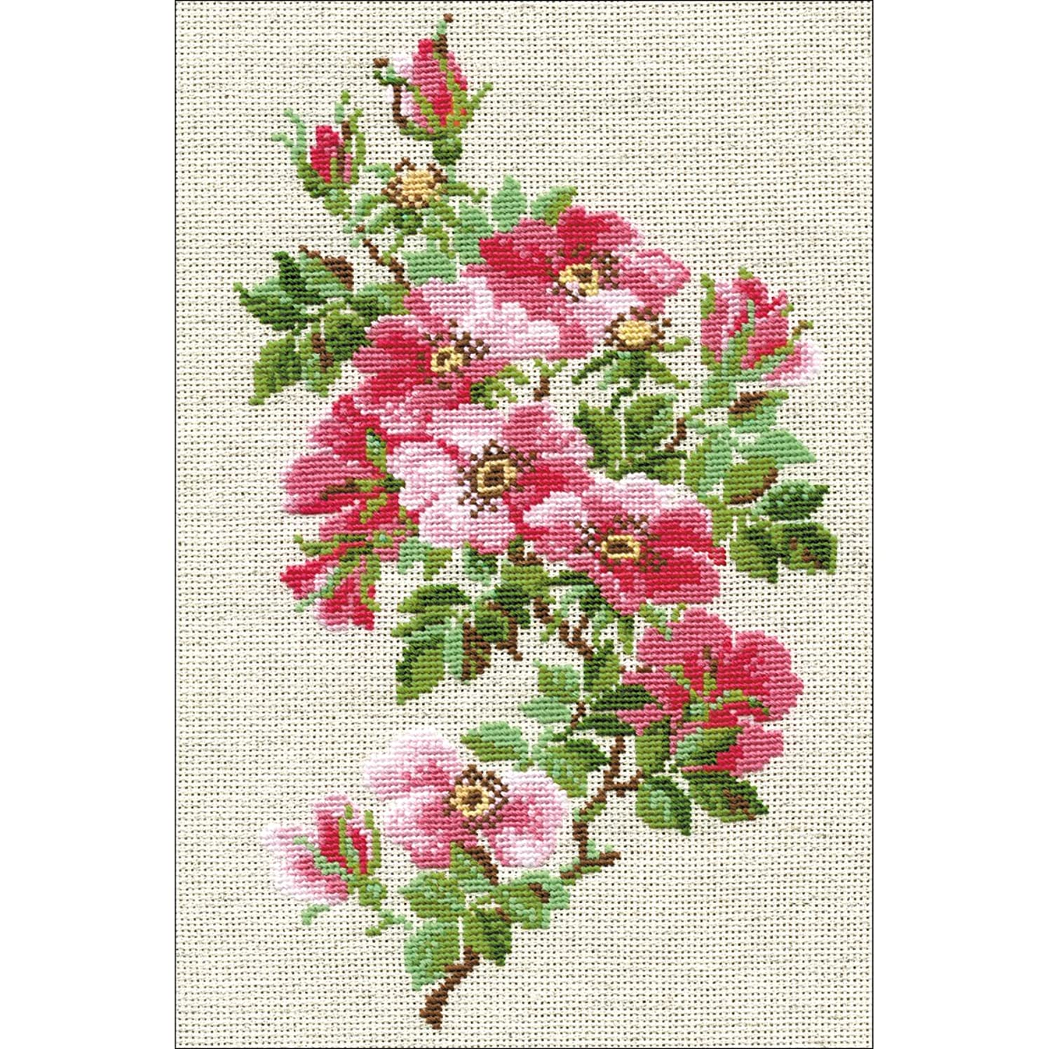 RIOLIS 809 - May Wild Rosey- Counted Cross Stitch Kit 8