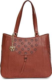 Butterflies Women Handbag (Rust) (BNS 0675RST)