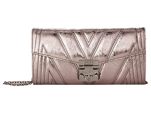 MCM Patricia Quilted Flap Wallet/Bifold Large on a Chain