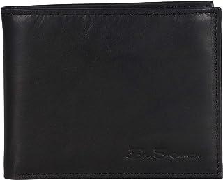 محفظة سفر رفيعة من مجموعة بن شيرمان مانشيستر للرجال مصنوعة من الجلد الطبيعي مضادة للسرقة مع تقنية تحديد الهوية بموجات الراديو