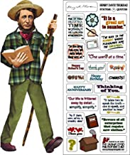 Henry David Thoreau Quotable Notable - Die Cut Silhouette Greeting Card and Sticker Sheet