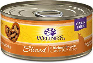 Wellness Natural Grain Free Wet Canned Cat Food Sliced Chicken