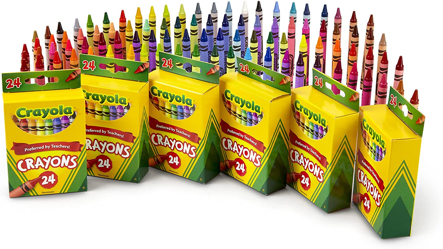 Crayola Crayons School Art Supplies of Max 53% OFF Pack quality assurance Bulk 6 24Count