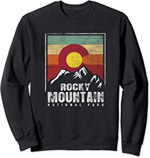 Vintage Rocky Mountain National Park Shirt Colorado Flag Sweatshirt