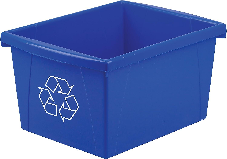 Storex 4 Gallon 15L Recycle Bin overseas 11.25 Max 53% OFF 7.87 x Inches 13.63