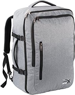 Cabin Max®️ Malaga - Range of Cabin Bags 55 X 40 X 20 44L - Cabin Luggage/Suitcase Perfect for Thomas Cook Flights, Ryanair Flights, Thomson and Many More! (Grey)