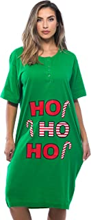 Short Sleeve Christmas Nightgown Sleep Dress for Women Sleepwear