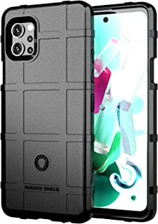 Wuzixi Case for LG Q92 5G.Soft silicone sleeve design, shockproof and durable, Cover Case for LG Q92 5G.(Black)
