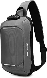 Sponsored Ad - LEASTAT Anti-Theft Sling Bag Crossbody Shoulder Backpack with USB Charging Port Waterproof Chest Bags Casua...