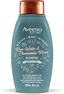 Aveeno Scalp Soothing Rose Water & Chamomile Blend Shampoo, Fresh 12 Fl Oz