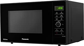 Panasonic NN-SD25HBBPQ Solo Microwave Oven with Turntable, 1000 W, 23 Litres, Black