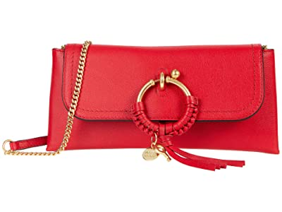 See by Chloe Joan Clutch (Red Flame) Handbags
