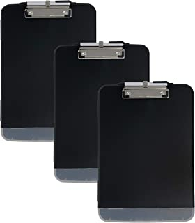 Trade Quest Premium Storage Clipboard with Pen Holder Clip and Extra Compartment (Pen Included) (Pack of 3)
