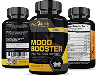 Mood Booster Supplement- Supports Brain Dopamine & Serotonin Levels to Feel Relaxed, Positive & Happy. Natural Based Herbal & Vitamin Formula Designed to Give Clarity, Focus & Reduce Daily Stress.