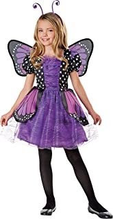 Direct Halloween Girl Brilliant Butterfly Purple Costume with Wing & Headband