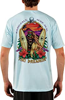 SAND.SALT.SURF.SUN. Tiki Men's UPF 50+ Short Sleeve T-Shirt