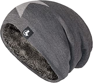 27fee7ce20b LETHMIK Slouchy Star Long Beanie Warm Winter Ski Skull Cap Knit Hat for Men    Women