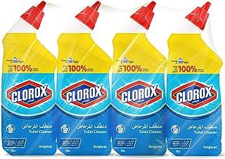 Clorox Disinfecting Toilet Bowl Cleaner Original Scent, 4 x 709 ml