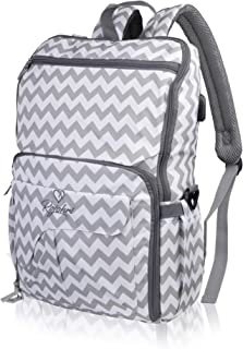 Rojohri Large Waterproof Diaper Bag,Unisex Baby Bag with Compartment Organizers,Insulated Pockets and USB port