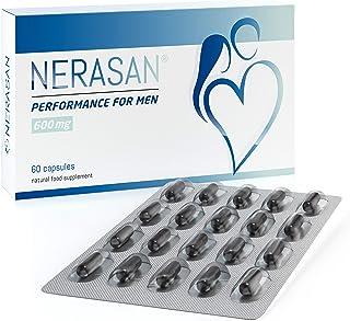 Nerasan 男性用サプリメント パフォーマンス改善 副作用なし サフラン (60錠, 1ヶ月) + 無料E-BOOK
