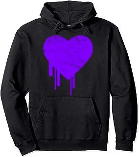 Bleeding Purple Heart Pullover Hoodie