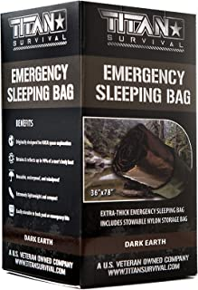 Titan Extra-Thick Emergency Mylar Sleeping Bag | Designed for NASA Space Exploration and Heat Retention. Perfect for Survi...
