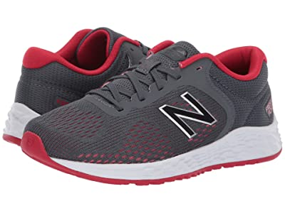 New Balance Kids YPARIv2 (Little Kid/Big Kid) (Gunmetal/Energy Red) Boys Shoes