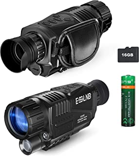"""40mm Night Vision Monocular 5X Digital Infrared Monocular 1.5"""" LCD Take Photos/Videos and Playback with 16G for Hunting Security Surveilla"""