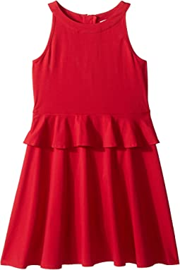 Peplum Waist Dress (Little Kids/Big Kids)