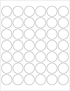 ChromaLabel 1-1/2 Inch Round Printable Labels for Laser and Inkjet Printers, 1050 Pack, 108 Stickers per Sheet, White